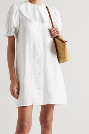 Sleeper Marie convertible linen mini dress and scarf set