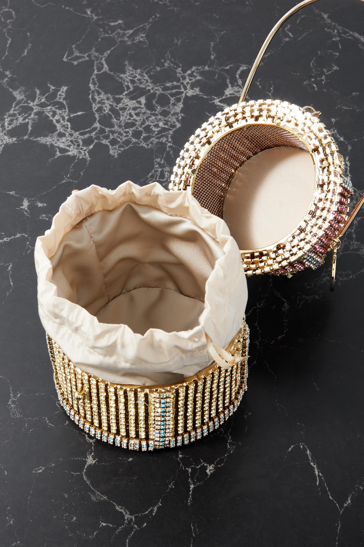 Rosantica Anniversary Cake gold-tone, quartz and crystal tote