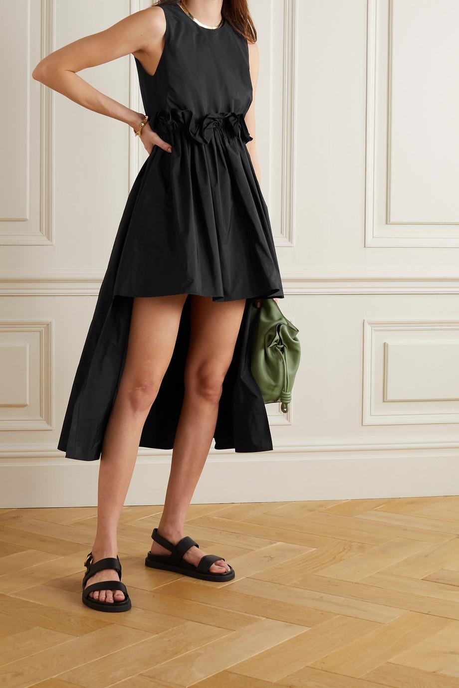 REDValentino Ruffled asymmetric taffeta dress
