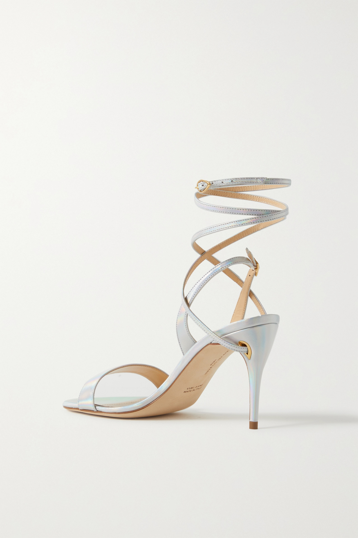 Jennifer Chamandi Tommaso 85 Slingback-Sandalen aus changierendem Leder