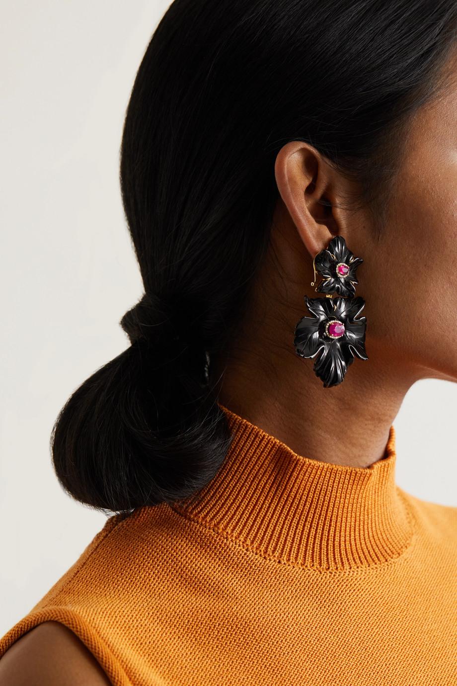 Casa Castro 18-karat gold multi-stone earrings