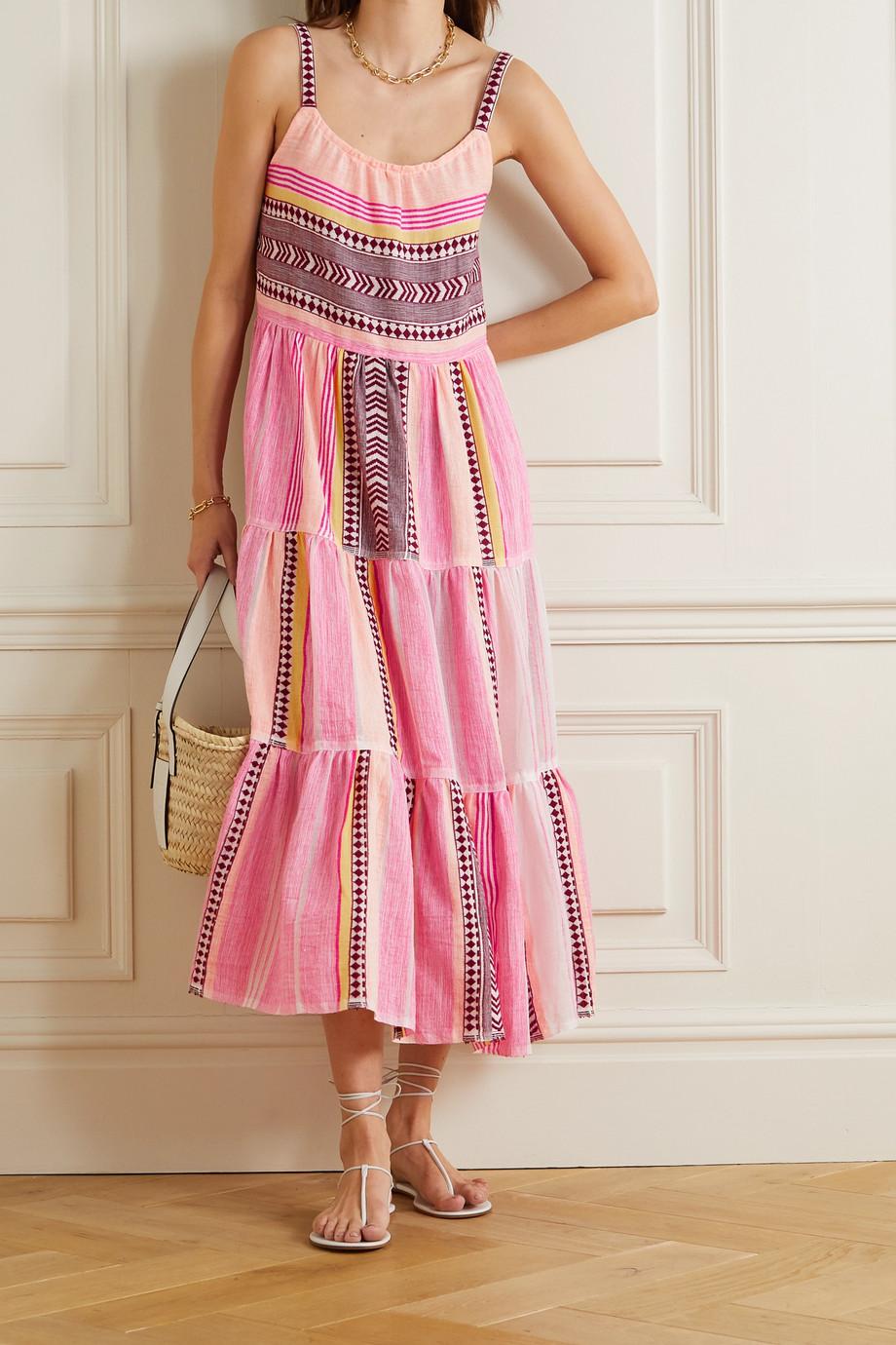 LemLem + NET SUSTAIN Neela Cascade Kleid aus Gaze aus einer Baumwollmischung