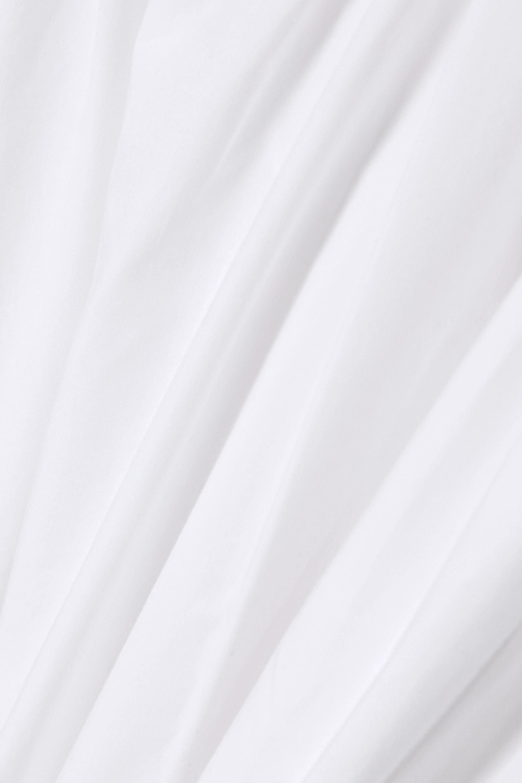 CAES + NET SUSTAIN Maxikleid aus Popeline aus einer Lyocell-Baumwollmischung mit Raffungen