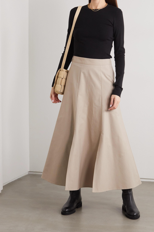 CAES + NET SUSTAIN organic cotton-poplin midi skirt