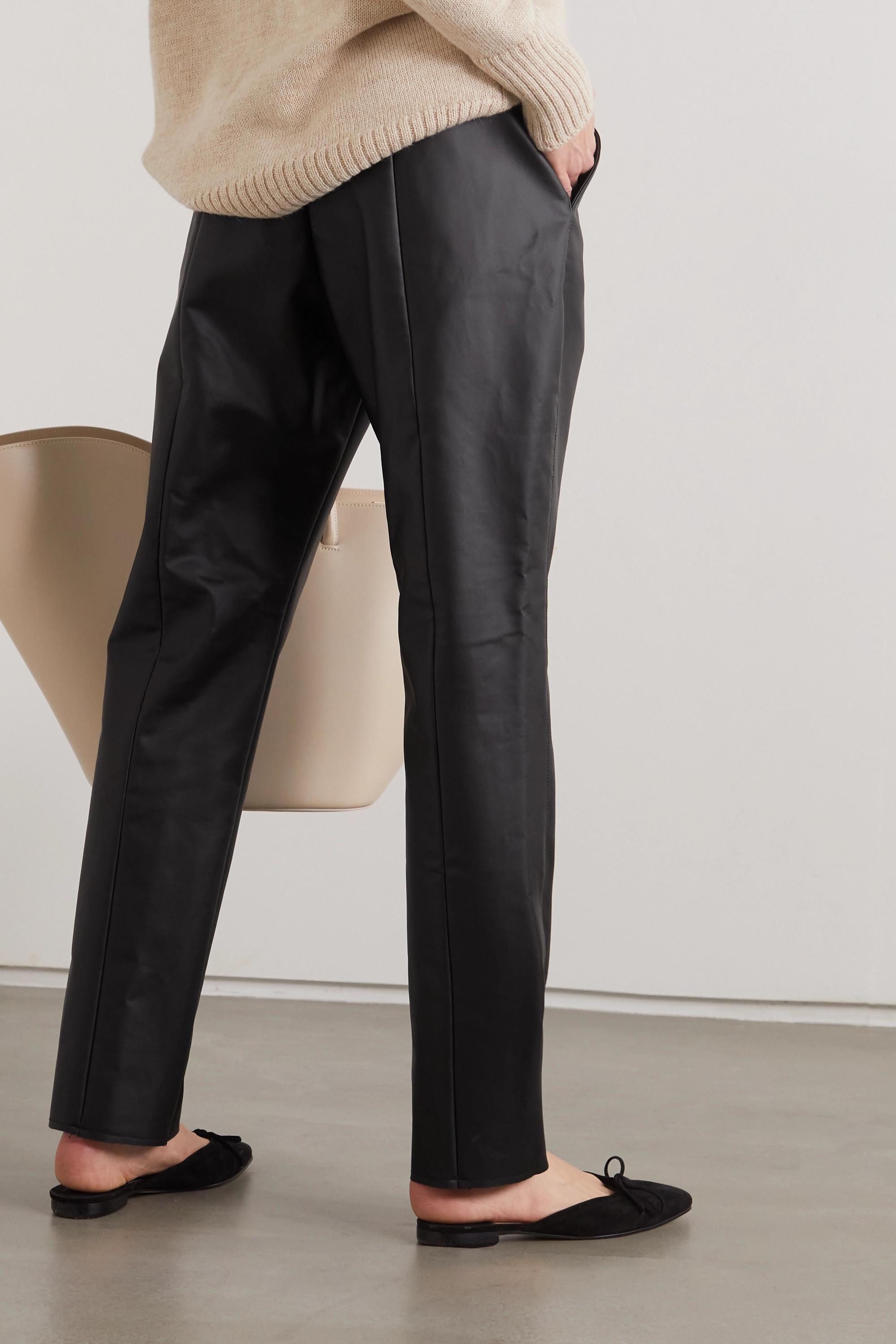 CAES + NET SUSTAIN Hose mit geradem Bein aus Kunstleder