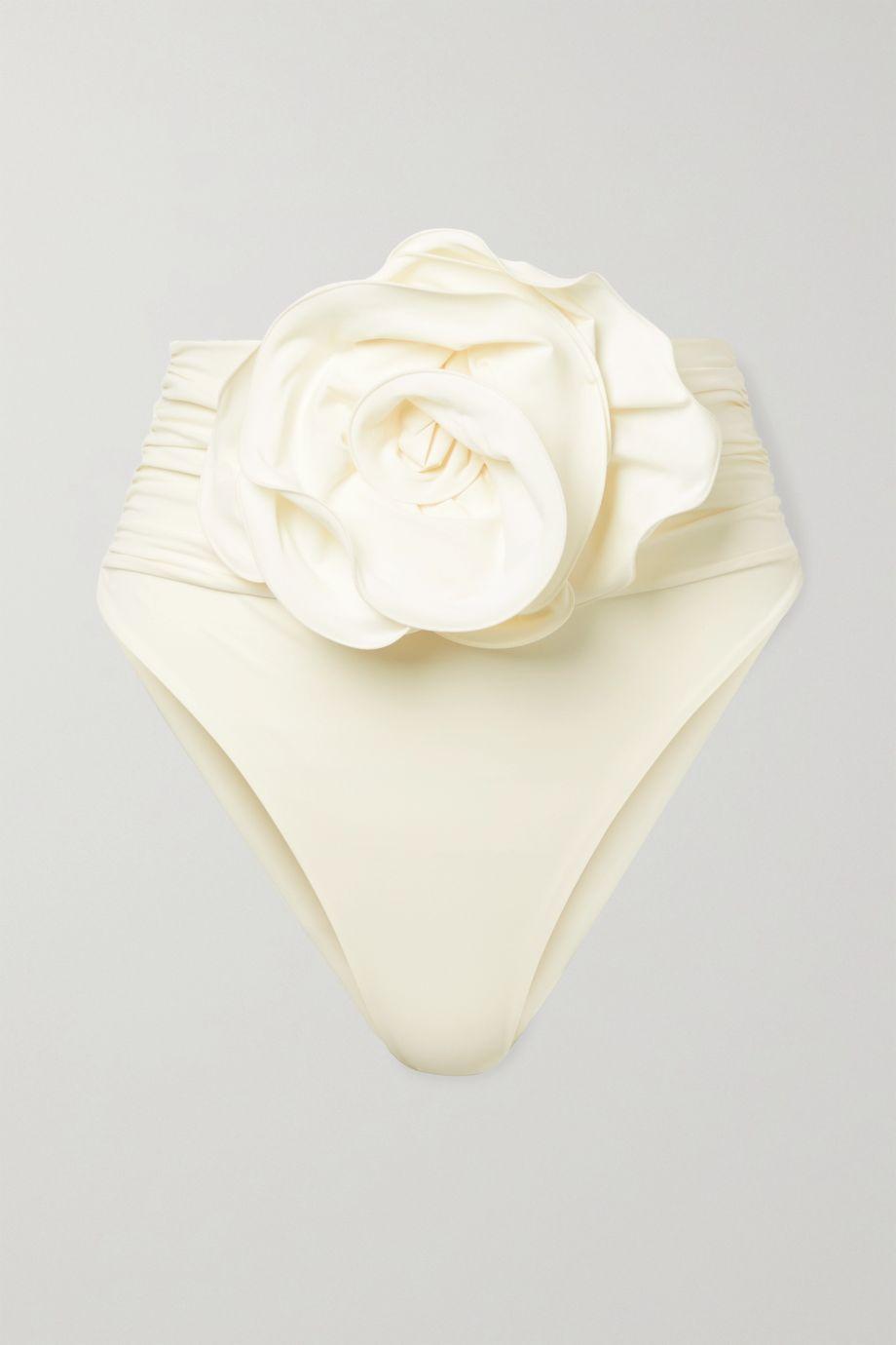 Magda Butrym Embellished ruched bikini briefs