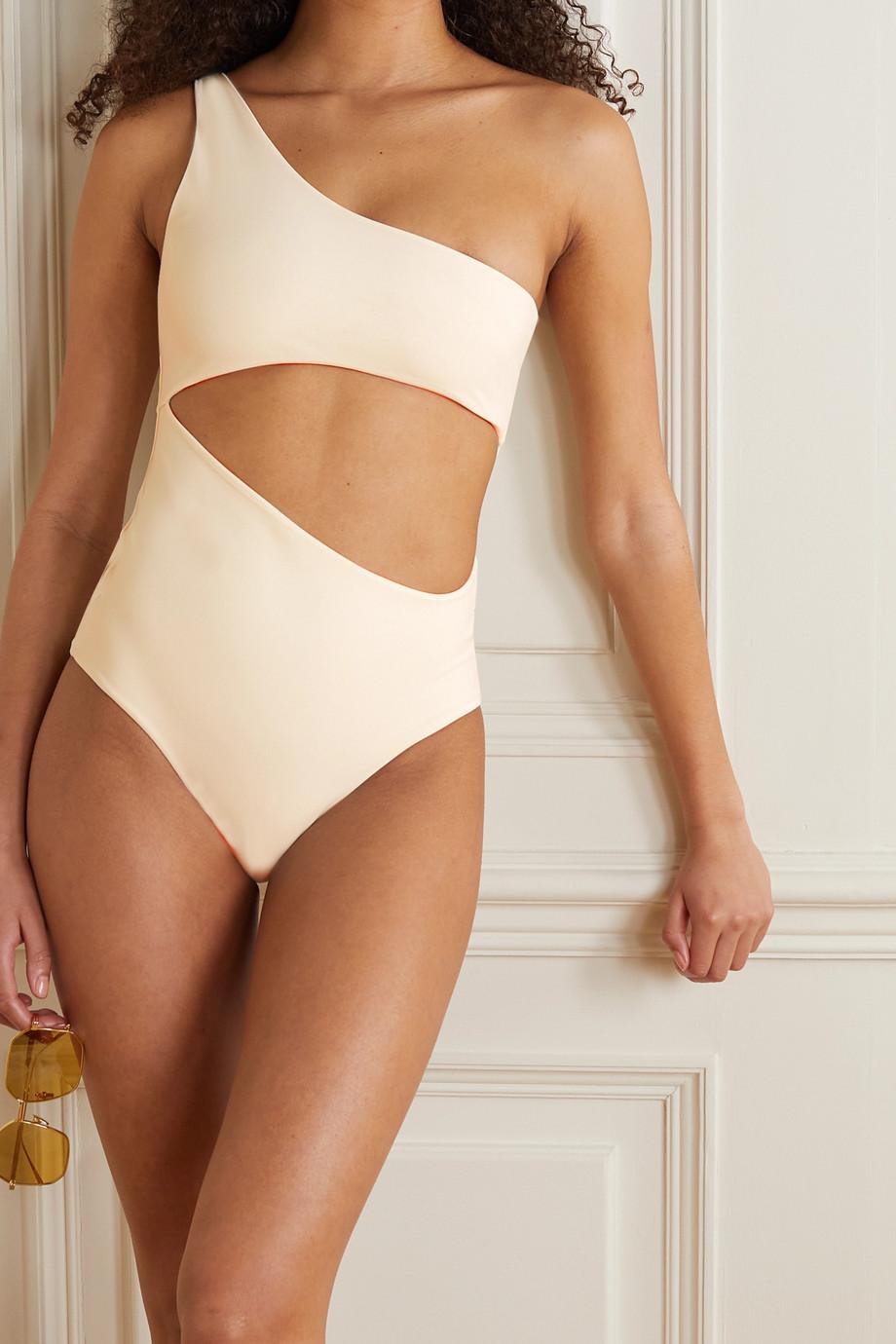 Magda Butrym Badeanzug mit asymmetrischer Schulterpartie und Cut-out