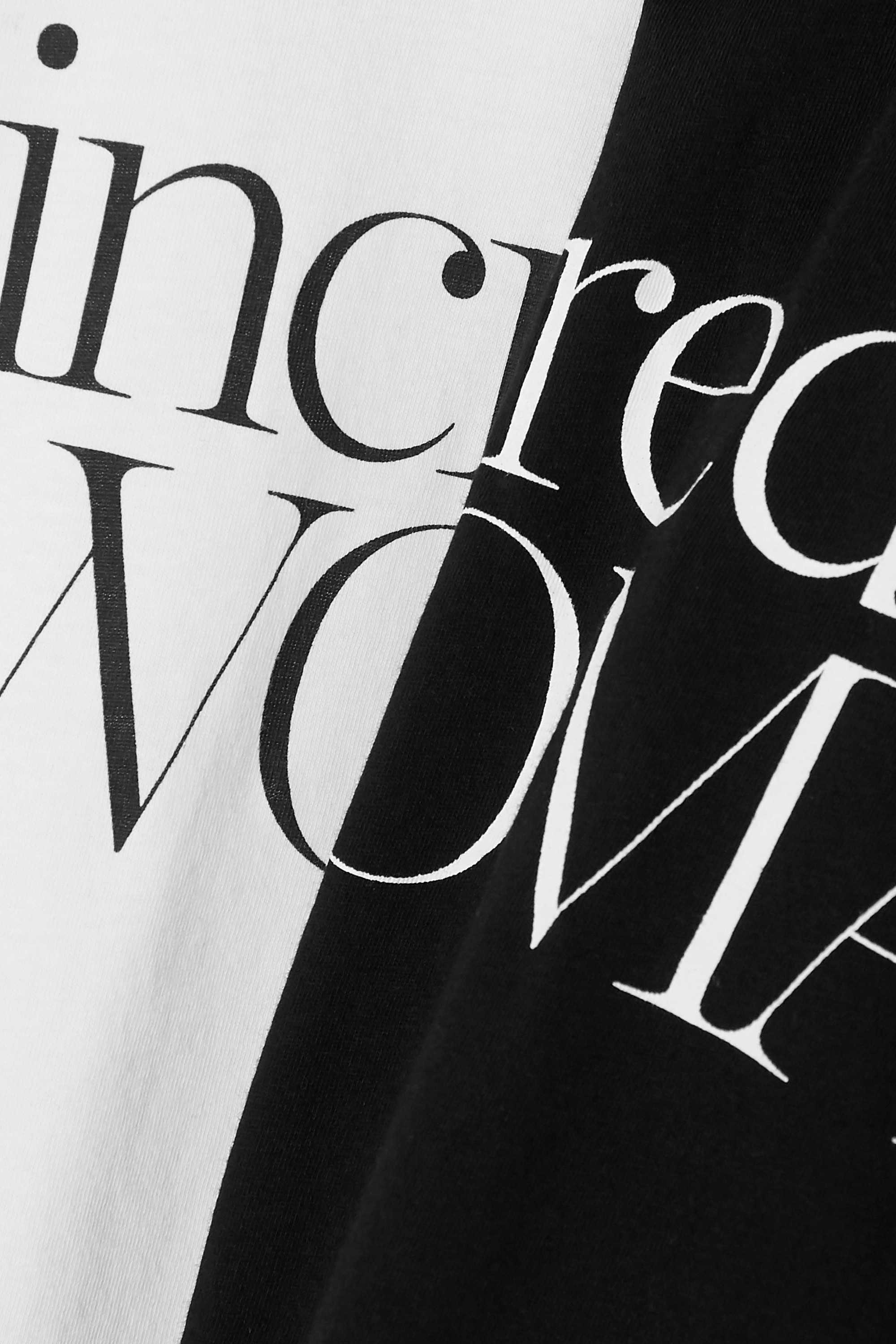 Ninety Percent + NET SUSTAIN International Women's Day set of two printed organic cotton-jersey T-shirts