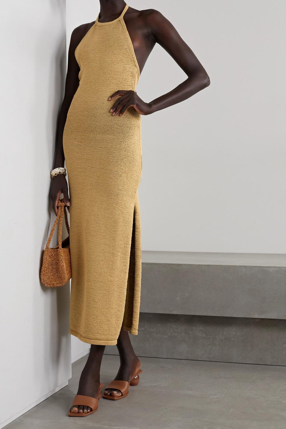 Cult Gaia Karina open-back cotton-blend halterneck maxi dress