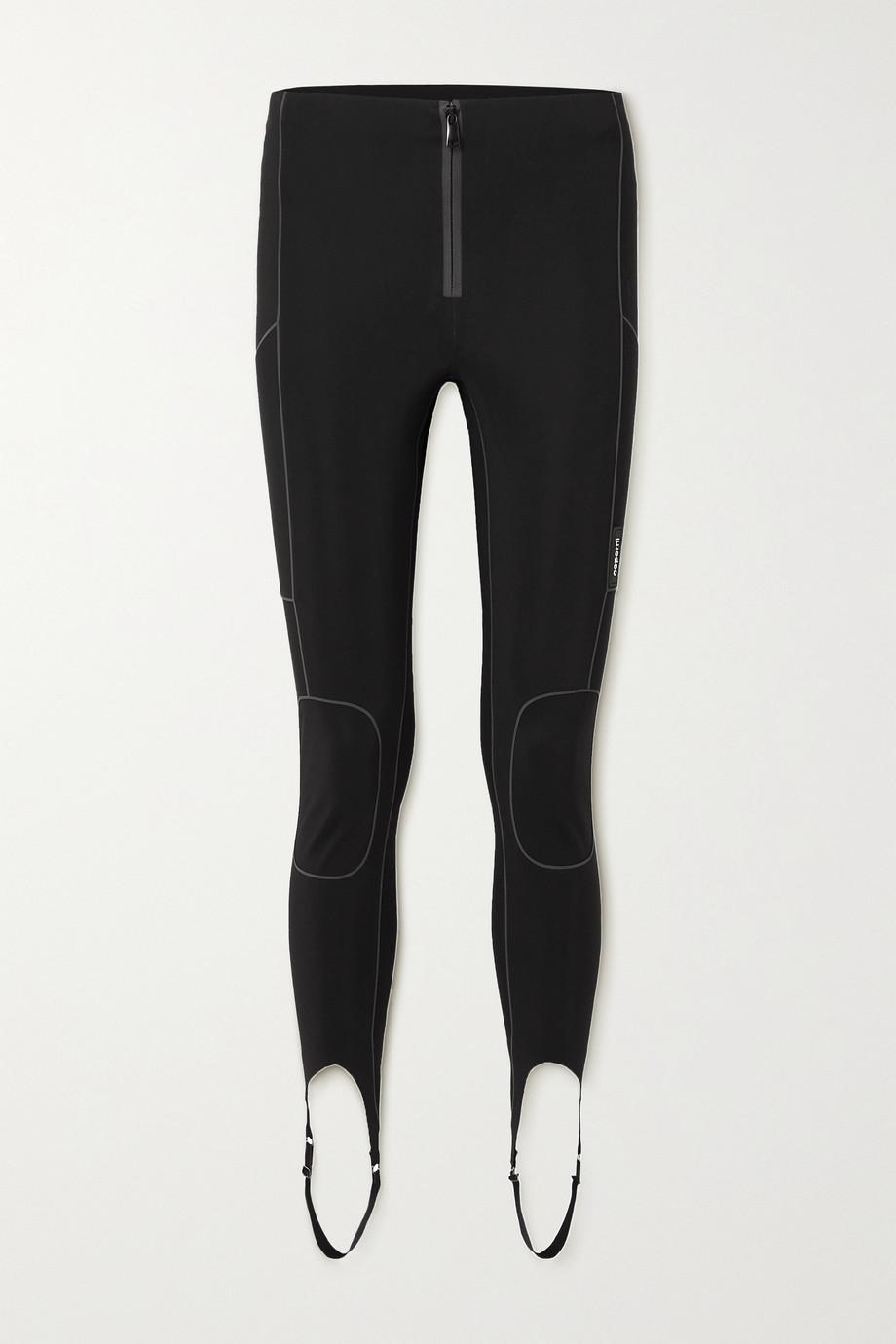 Coperni C+ piped stretch stirrup pants