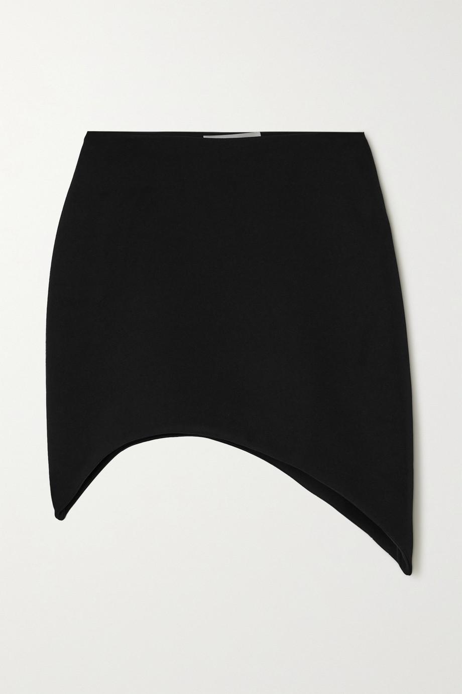 Coperni Extension asymmetric crepe mini skirt