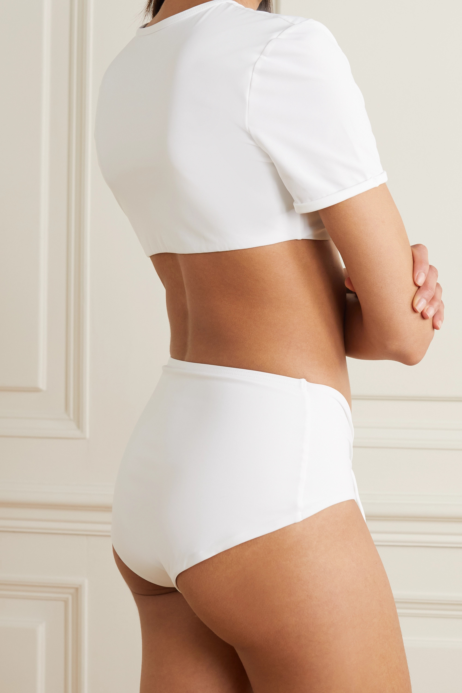 Christopher Esber Tie-detailed ruched bikini top