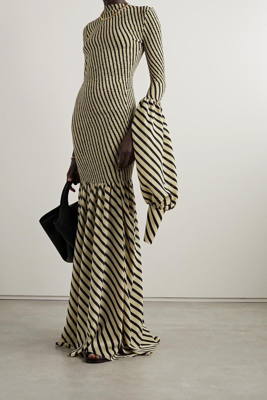 Petar Petrov Alodie shirred striped silk maxi dress