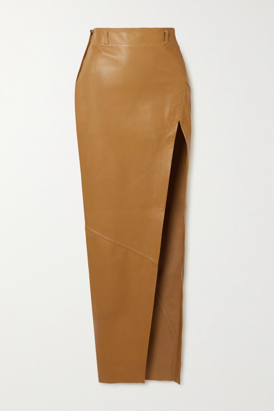 Petar Petrov Ryan paneled leather maxi skirt