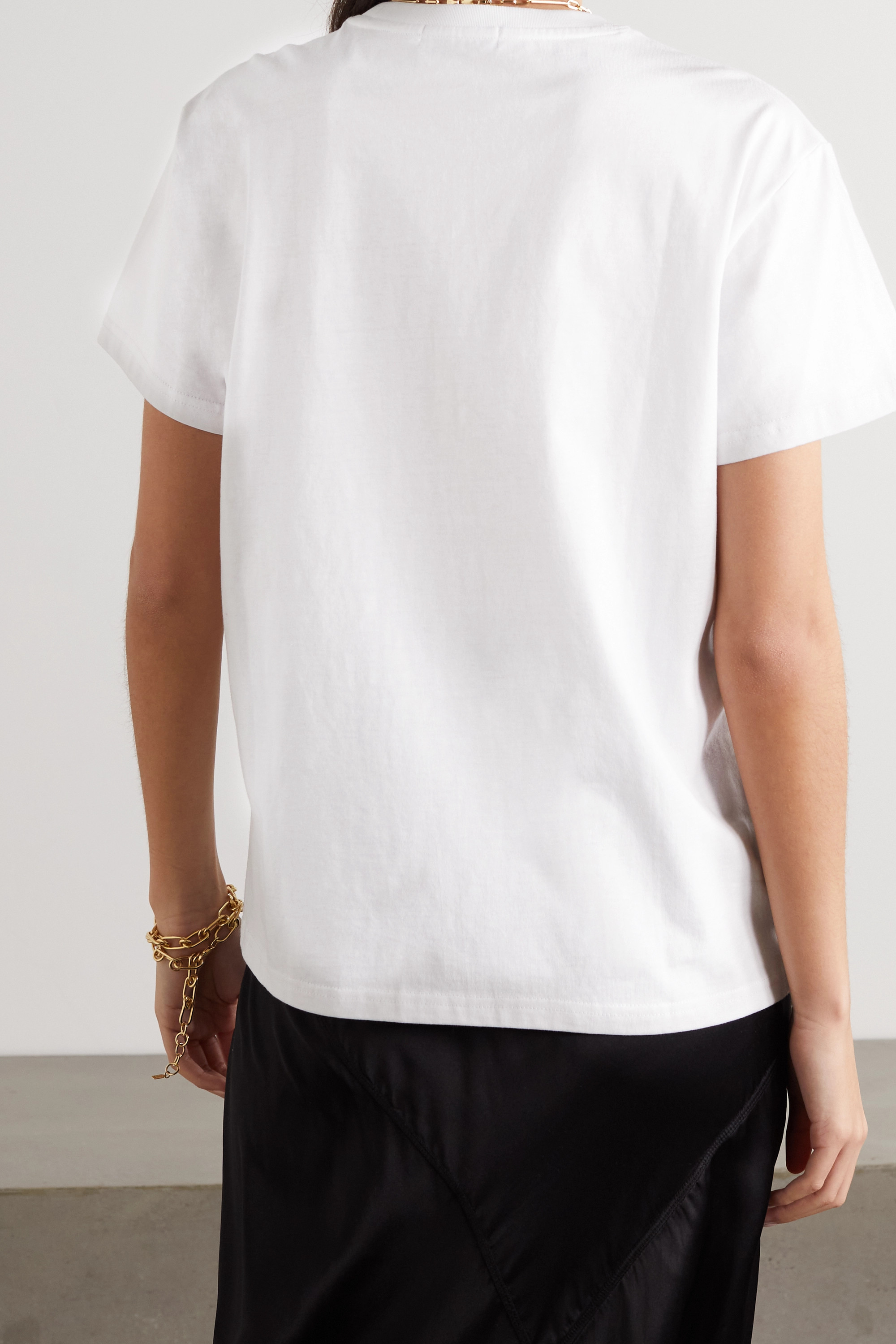Anya Hindmarch + Margaret Calvert International Women's Day printed organic cotton-jersey T-shirt