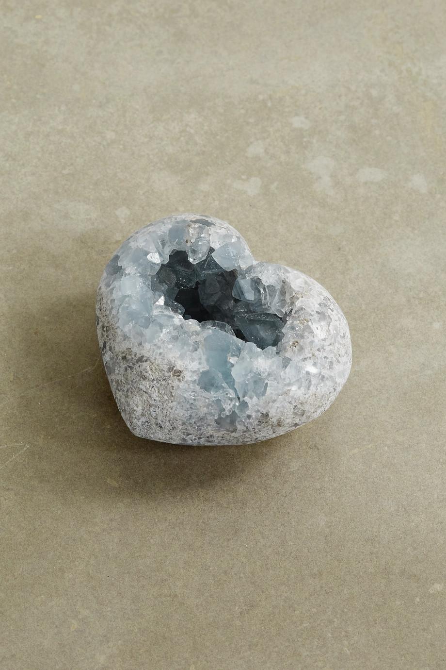 JIA JIA Small celestine geode heart