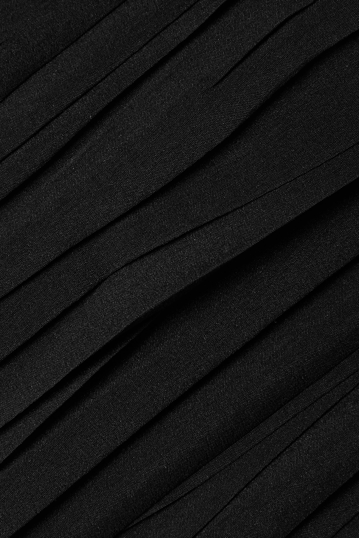 MAGDA BUTRYM Silks CUTOUT RUCHED SILK-BLEND MINI DRESS