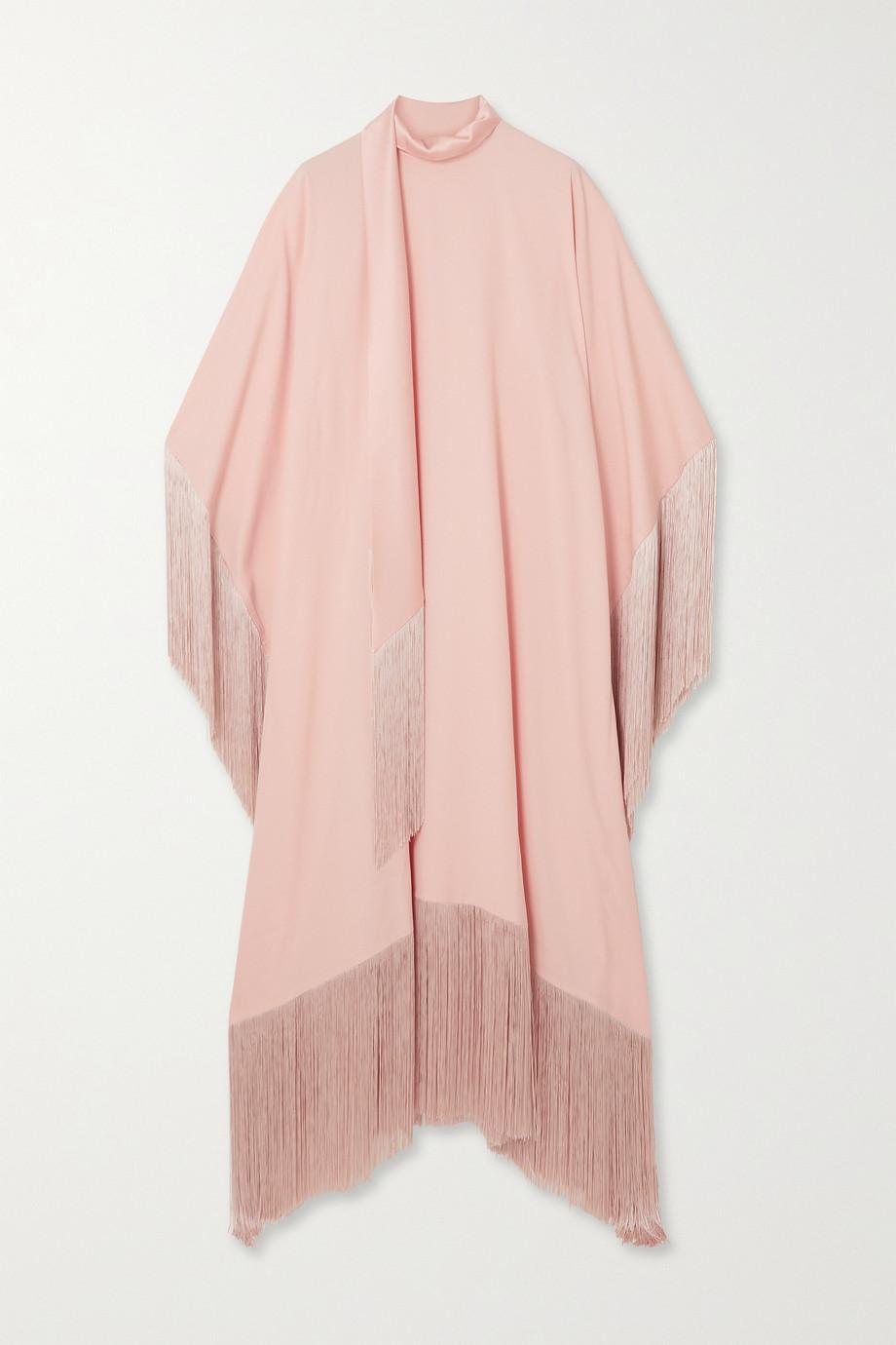 Taller Marmo Mrs Ross tie-detailed fringed crepe kaftan