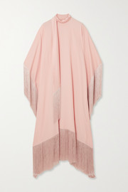 Taller Marmo Mrs Ross tie-detailed fringed crepe kaftan