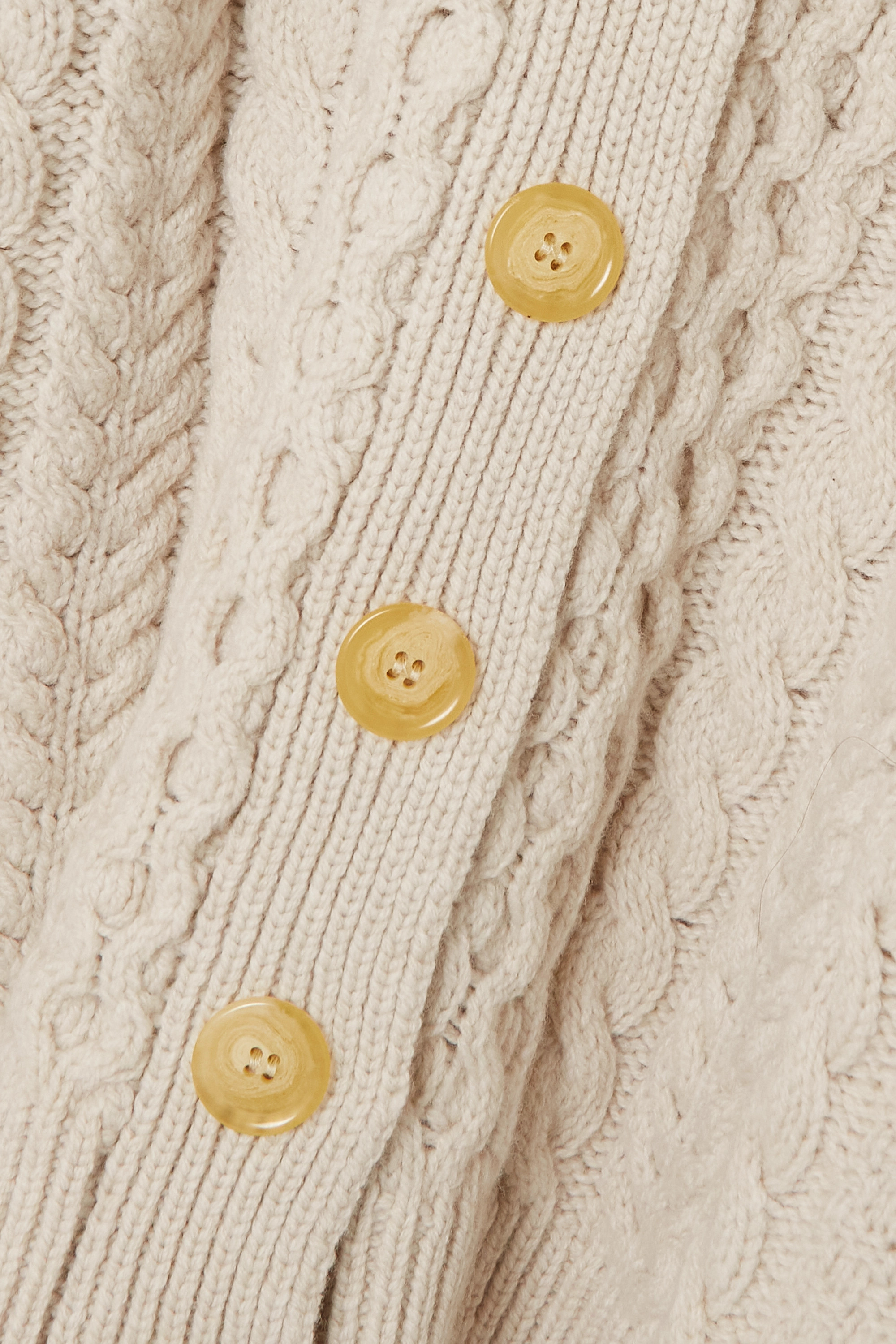 &Daughter + NET SUSTAIN Lena cable-knit wool cardigan