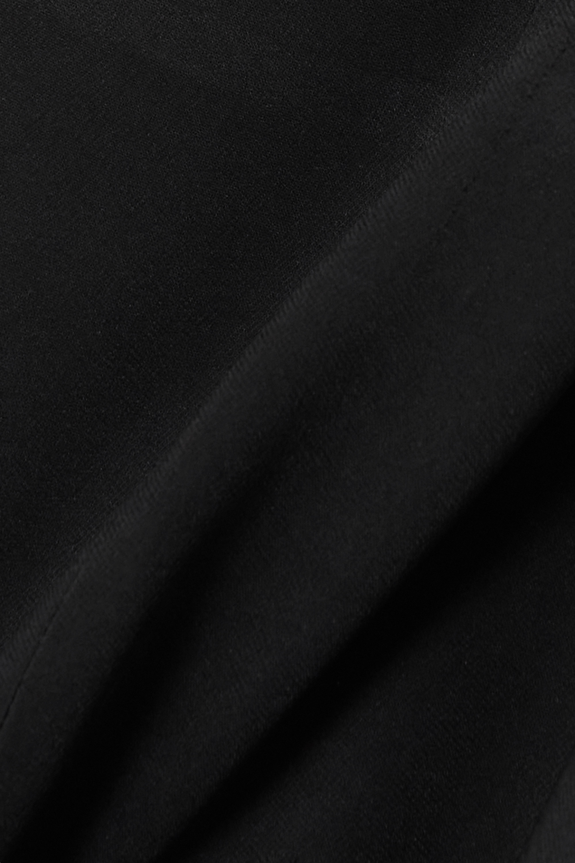 Maximilian Asymmetrisches Kleid aus Crêpe mit Cut-out