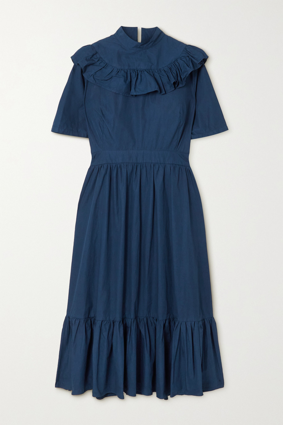 Sindiso Khumalo + NET SUSTAIN ruffled tiered cotton midi dress