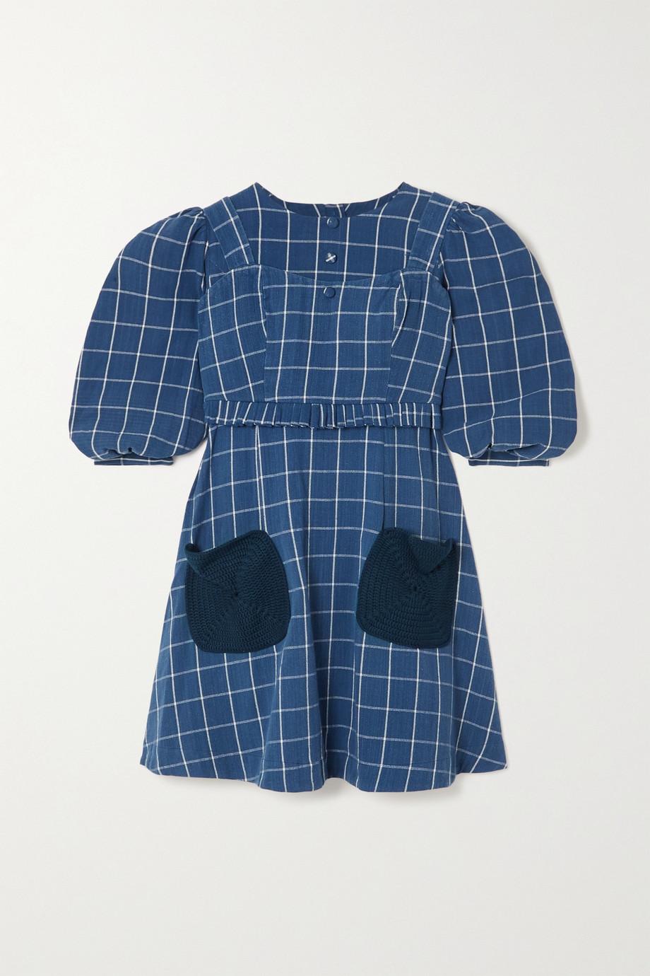 Sindiso Khumalo Mini-robe en coton à carreaux  - NET SUSTAIN