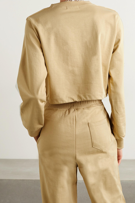 Frankie Shop Vanessa cropped French cotton-terry sweatshirt