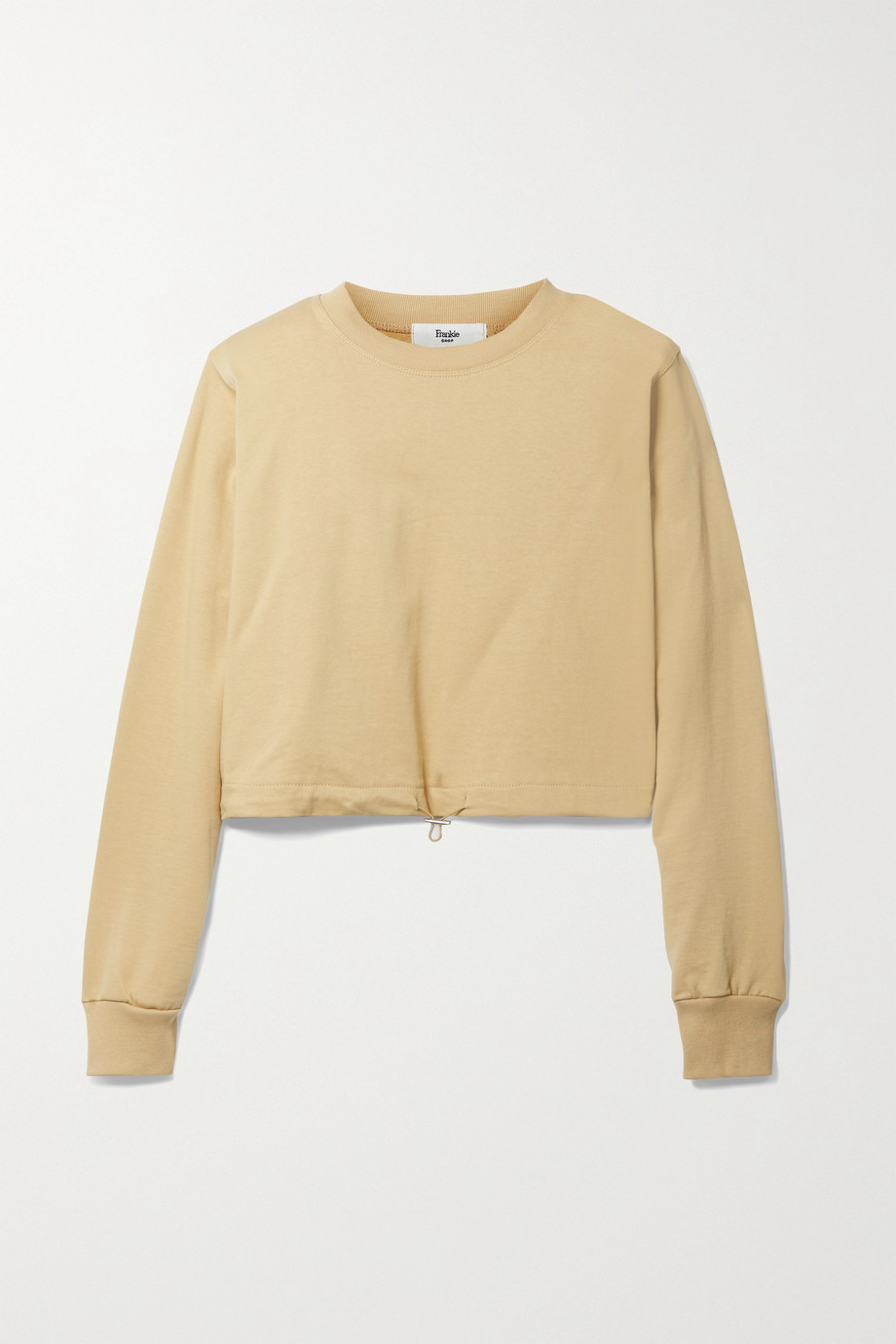 Frankie Shop Vanessa cropped French cotton-terry sweatshirt