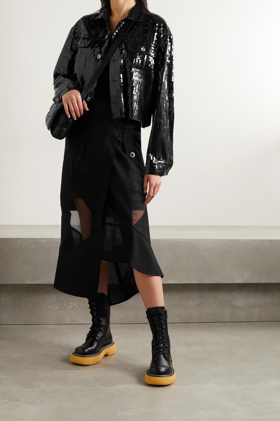 Junya Watanabe Veste raccourcie en mousseline à sequins