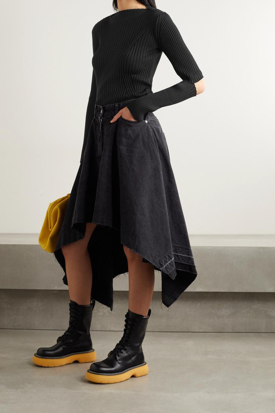 Junya Watanabe Cutout ribbed wool sweater