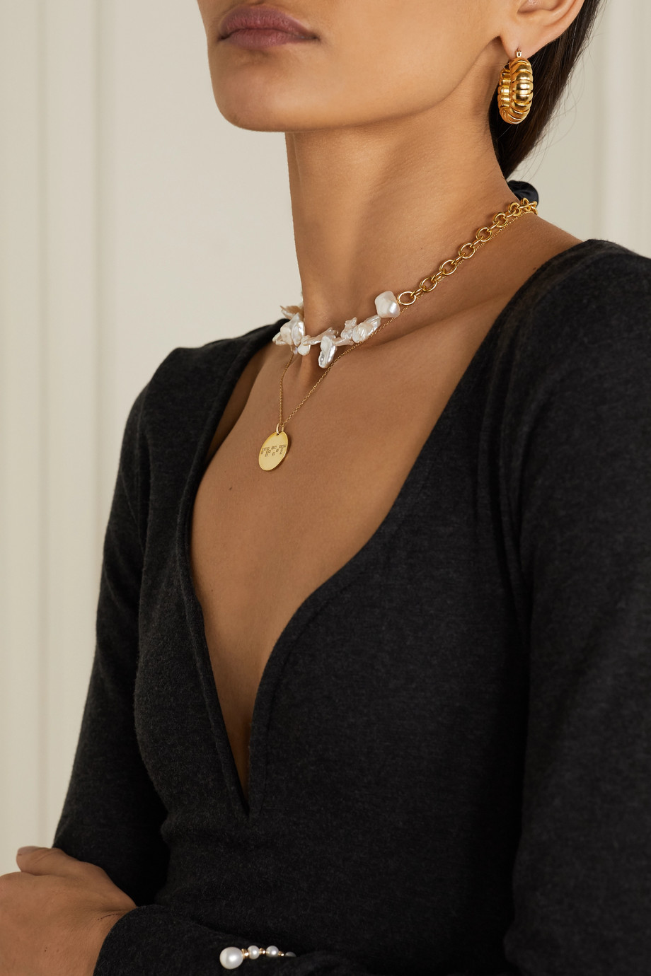 Anissa Kermiche Friendship 9-karat gold diamond necklace