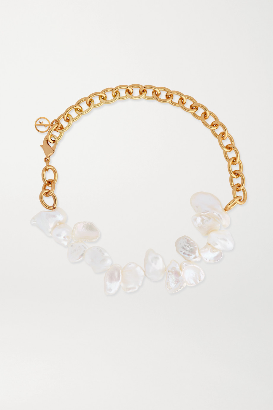 Anissa Kermiche Two Faced Shelley gold-plated pearl anklet