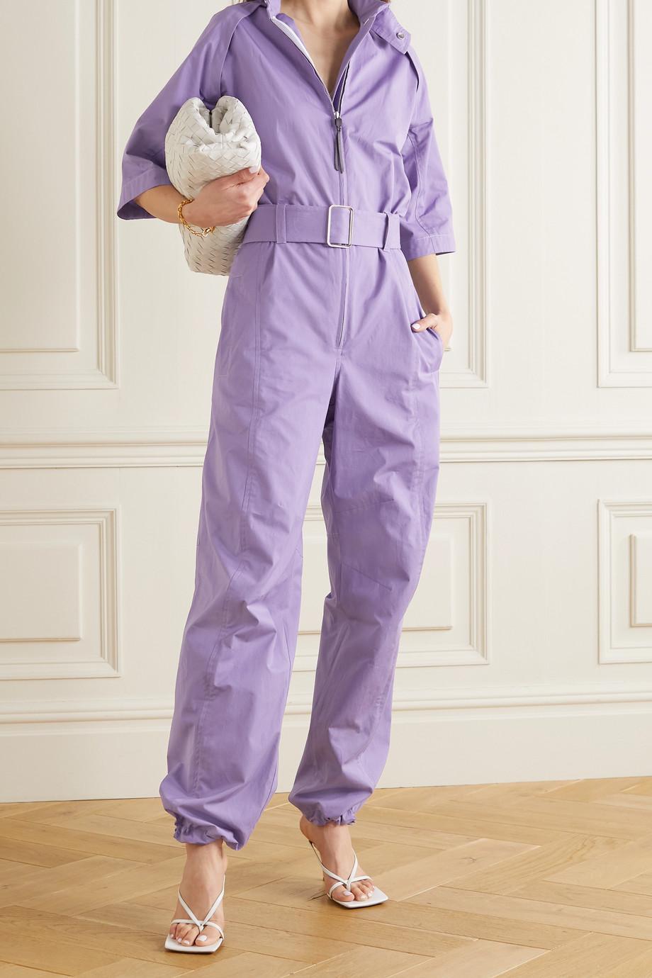 Salvatore Ferragamo Belted cotton-twill jumpsuit