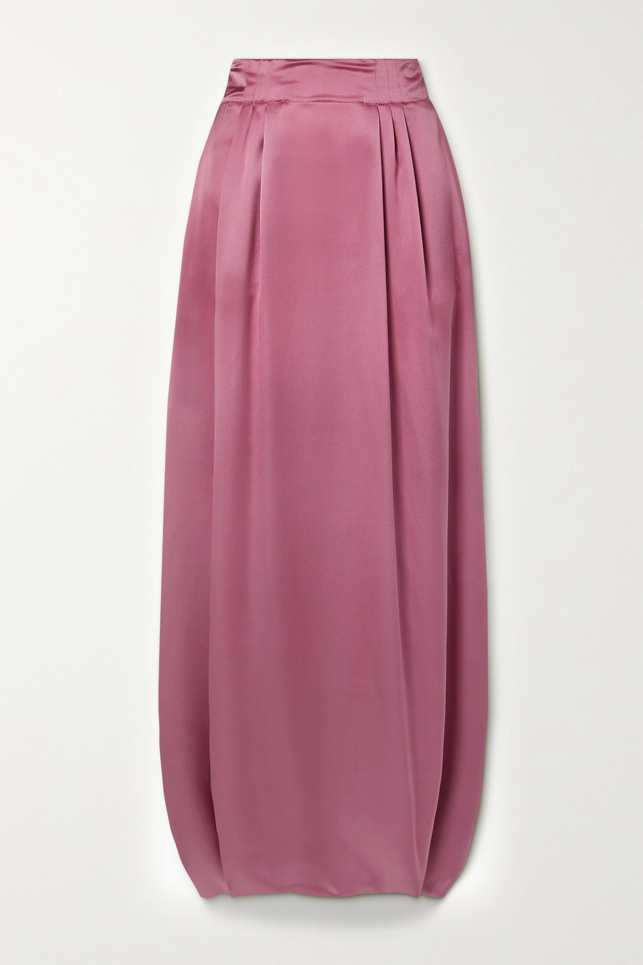 Salvatore Ferragamo Pleated silk-satin maxi skirt