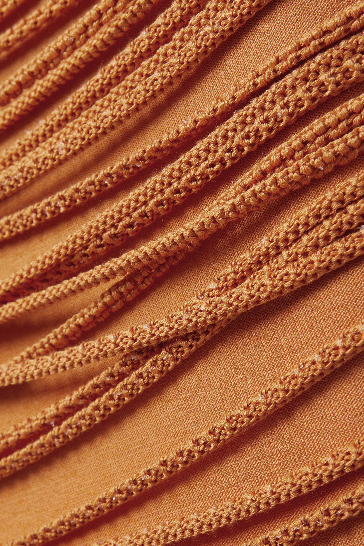Salvatore Ferragamo Cutout silk-blend skirt