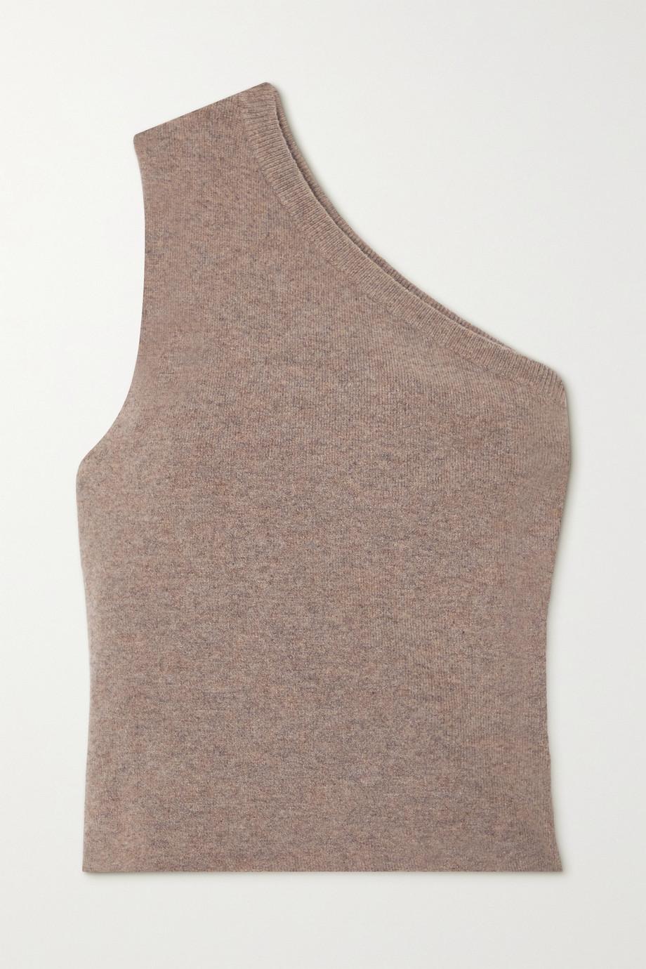 Extreme Cashmere N°108 one-shoulder cashmere-blend top
