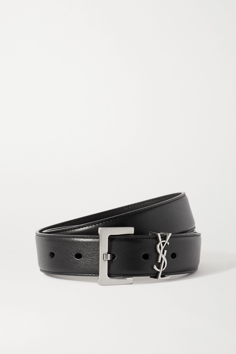 SAINT LAURENT Monogramme 皮革腰带
