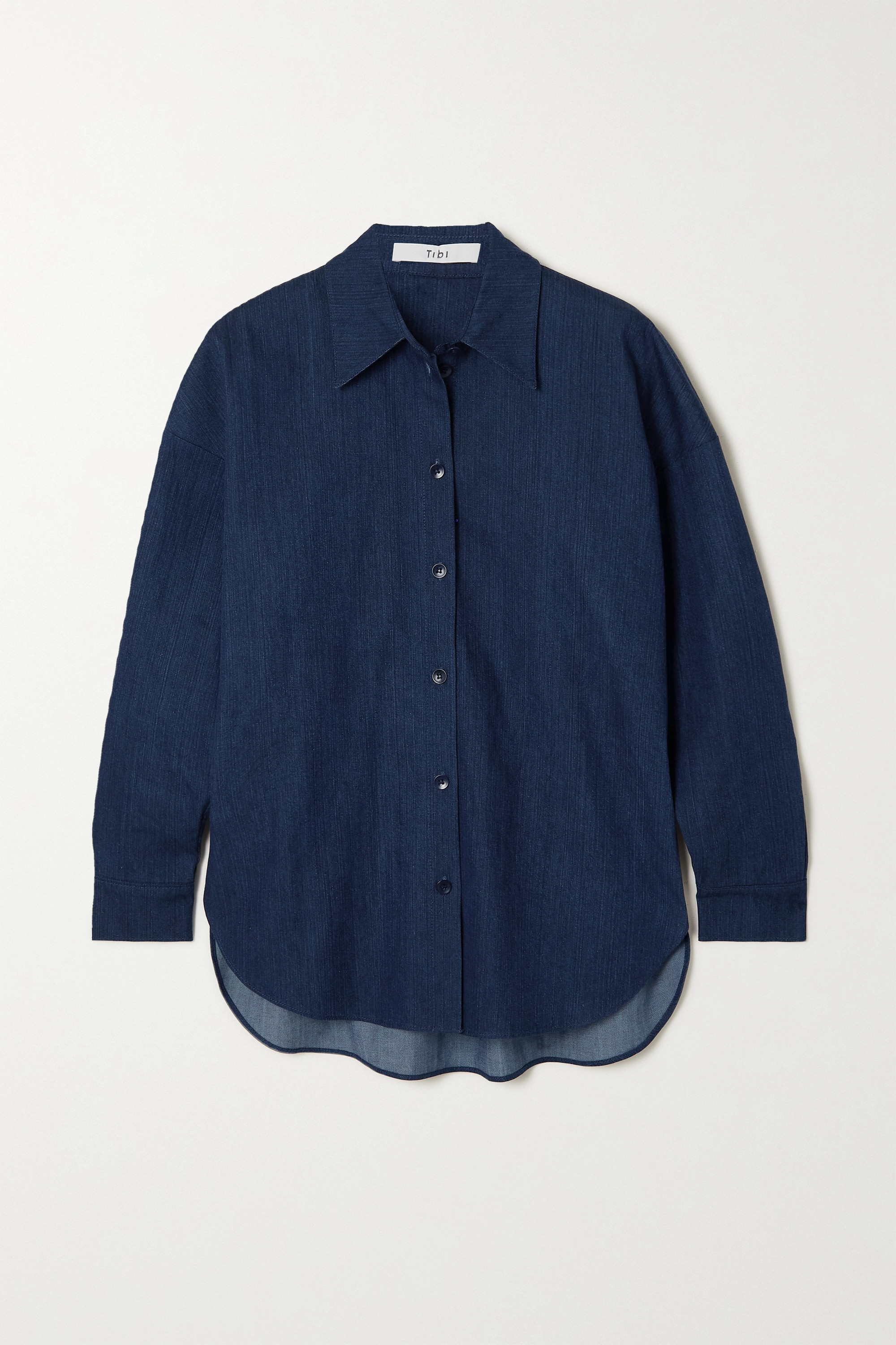 Tibi - Summer oversized denim shirt
