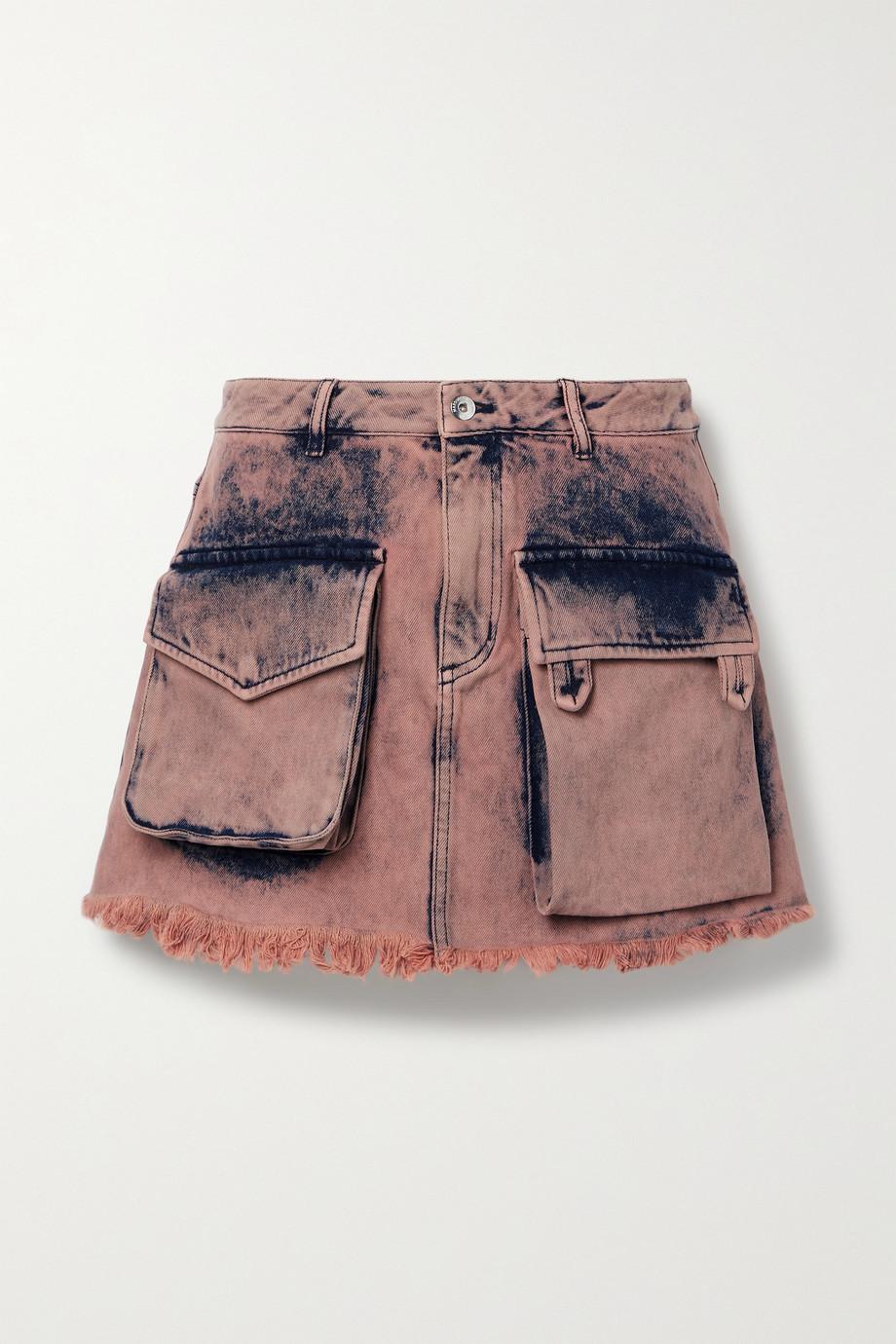 Marques' Almeida Frayed acid-wash denim mini skirt