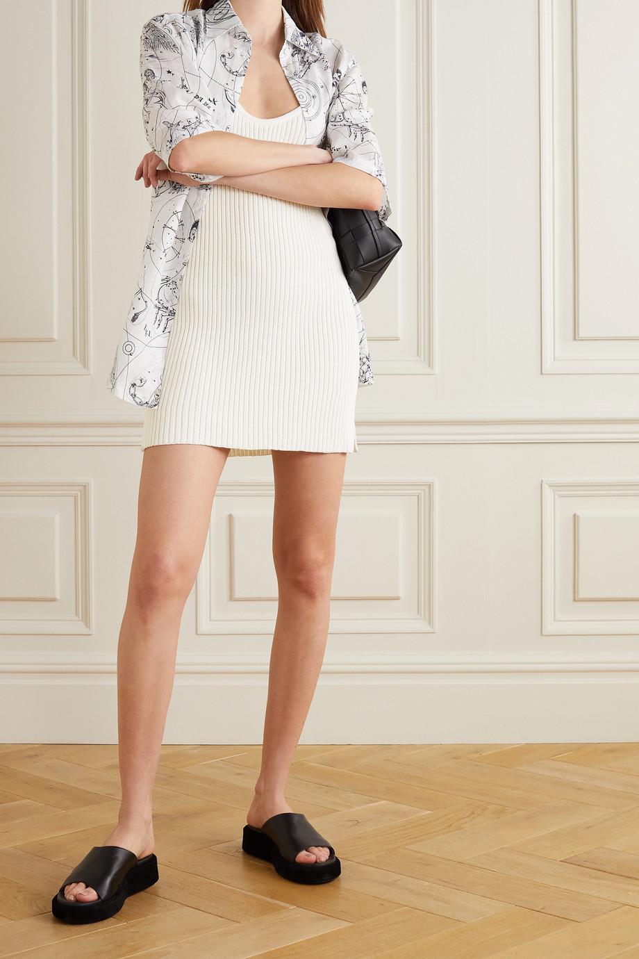 Marques' Almeida Ribbed cotton-blend mini dress