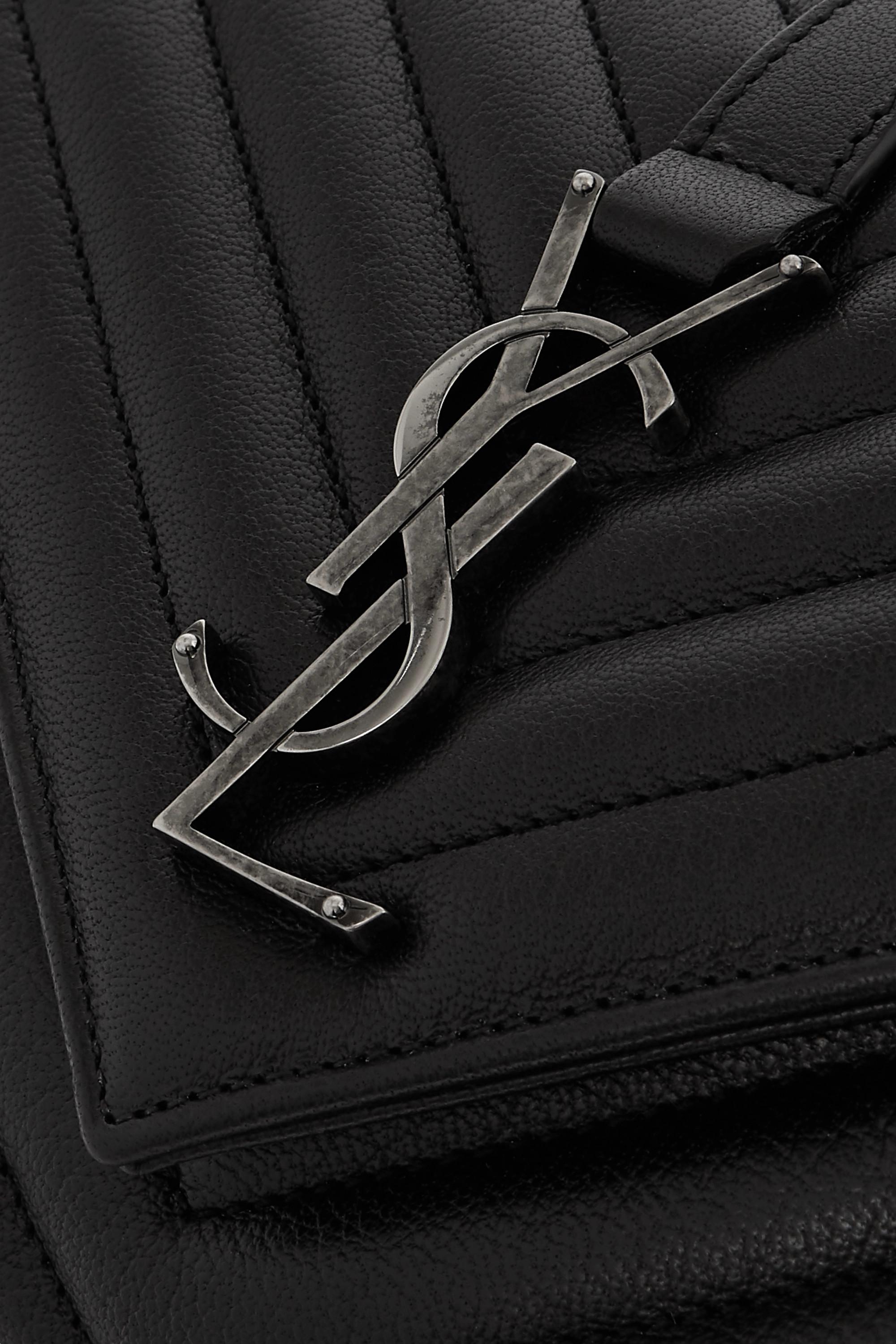 SAINT LAURENT College medium quilted leather tote