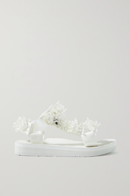 Arizona Love Trekky bead-embellished canvas sandals
