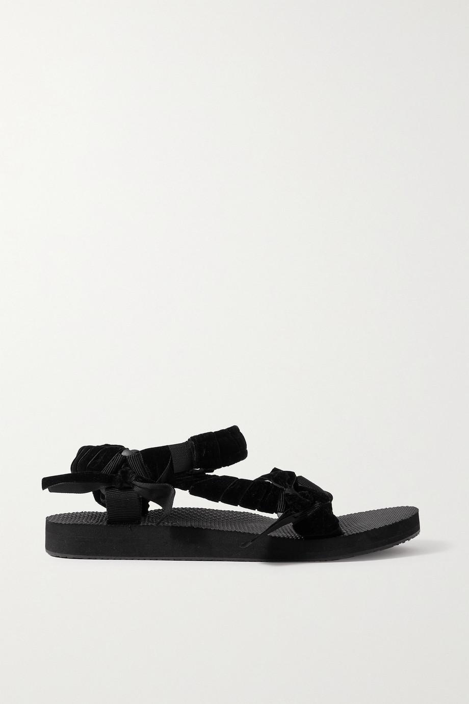 Arizona Love Trekky velvet and canvas platform sandals