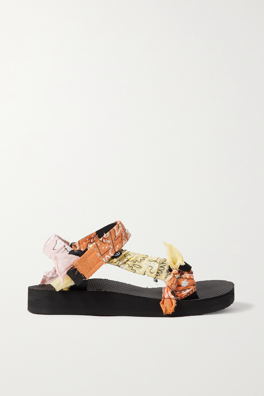Arizona Love Sandales plates-formes en toile à finitions en gaze imprimée Trekky