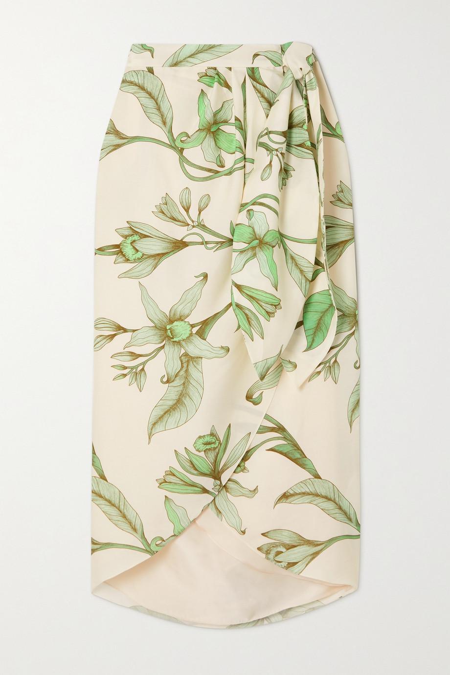 Johanna Ortiz Jupe portefeuille en serge de TENCEL à imprimé fleuri Botanist Guide