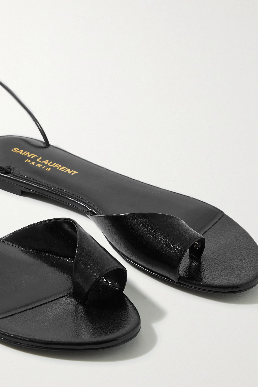 SAINT LAURENT Sandales à lacer en cuir Gia
