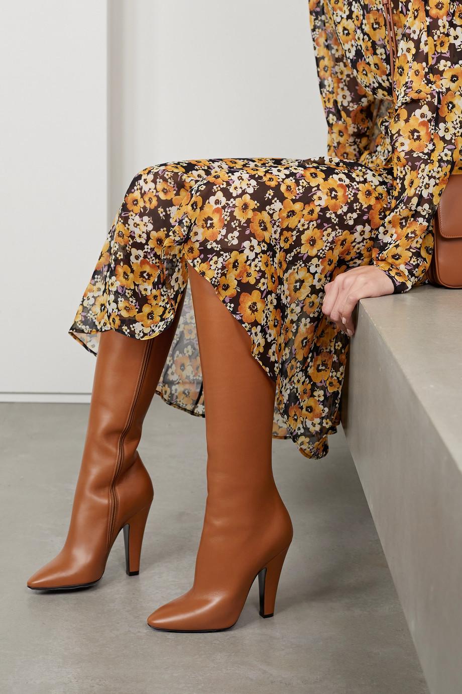 SAINT LAURENT Koller leather knee boots