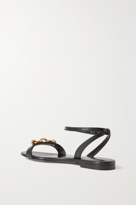 SAINT LAURENT Jota chain-embellished leather sandals