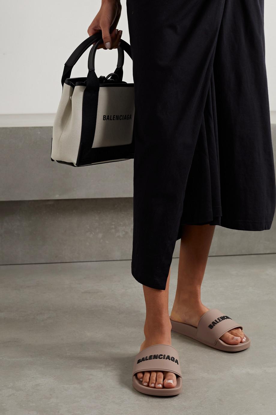 Balenciaga Piscine Pantoletten aus Gummi mit Logoprägung
